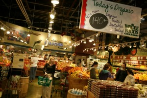 Produce department at Whole Foods La Jolla
